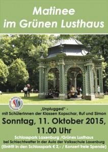 Matinee im Schlosspark-Plakat