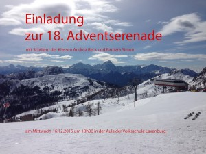 Plakat Adventserenade 2015