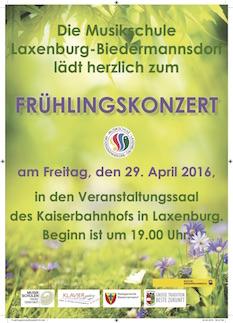 Plakat Frühlingskonzert 2016 im Kaiserbahnhof