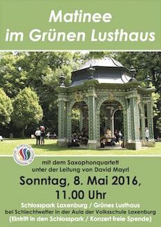 Plakat Matinee im Schlosspark Mai 2016
