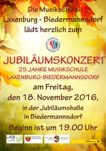 Plakat Herbstkonzert 2016