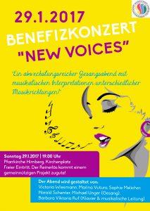 "Plakat Benefizkonzert ""New Voices"" 2017"