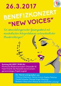 "Plakat Benefizkonzert ""New Voices"" II 2017"
