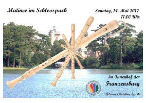 Plakat Matinee im Schlosspark Mai 2017