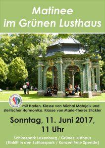 Plakat Matinee im Schlosspark Juni 2017