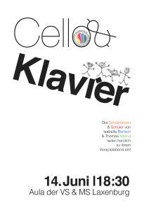Plakat Cello & Klavier 2017
