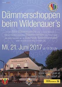 Plakat Dämmerschoppen beim Wildenauer's