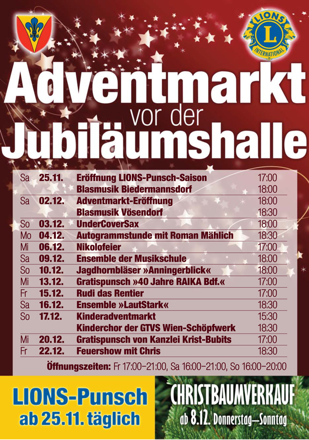 Plakat Adventmarkt Biedermannsdorf 2017
