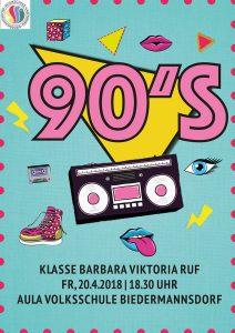Plakat Klassenabend 90's 2018