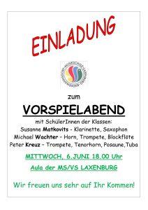 Plakat Bläser-Klassenabend 2018