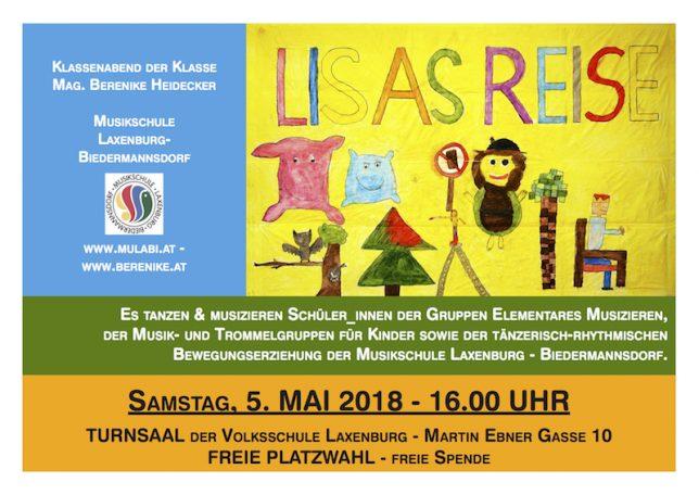 Plakat Lisas Reise 2018