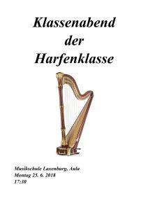 Plakat Harfenklasse 2018