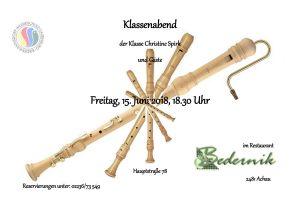 Plakat Klassenabend Chr. Spirk 2018