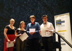 Bild Ensemble »vierstimmig« – 1. Preis mit Auszeichnung mit Berechtigung zur Teilnahme am Bundeswettbewerb, AG IV