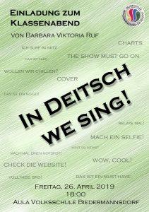 Plakat Klassenabend Gesang