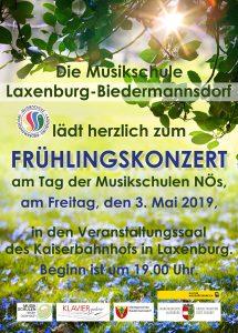 Plakat Frühlingskonzert 2019