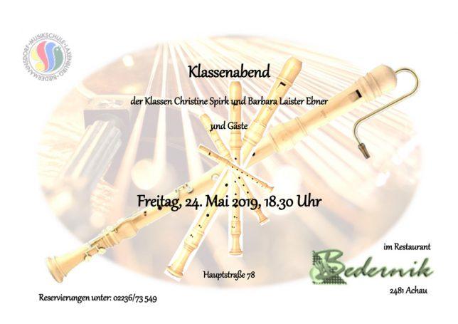 Klassenabend Blockflöte & Zither 2019
