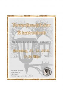 Plakat Klassenabend Spirk 12-2019