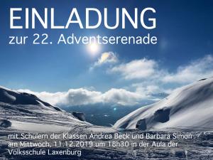 Plakat Adventserenade 12/2019